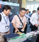 Guests looked interested in the booth of Bentley Systems.