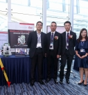 HKICBIM Committee Members Frankie (second from left), Sr. Li Ho Fai Clayton (centre), Ms. Annie Wong (second from right) and colleagues from Leica Geosystems.