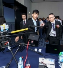 Unicorn Atom Solutions showed the remotely-controlled aircrafts used for drone filming to build 3D models.