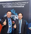 Founding President of HKICBIM, Sr. Michael Wong (left) gestured with guest after the ceremony.