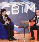 Honorary Treasurer of HKICBIM, Mr. Liu Chun Kit (left), and Committee Member Sr. Frankie Yip, talked about their experience in applying BIM in civil construction during sharing session.